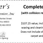 Piper's Collision Center Coupon