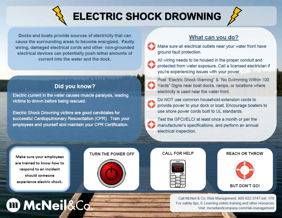 Safety Tips To Prevent Electric Shock Drowning