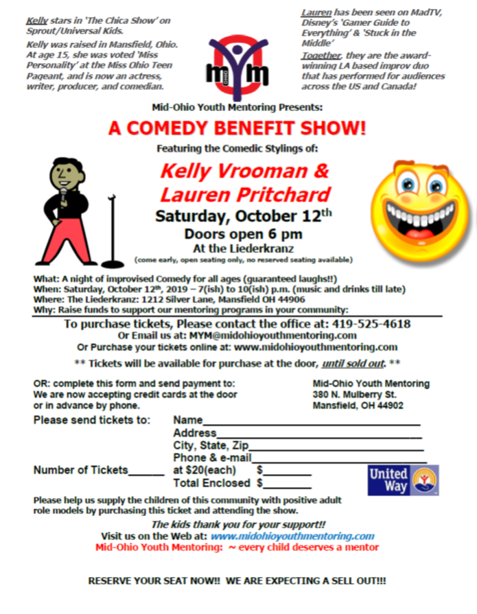Mid-Ohio Youth Mentoring Comedy Show